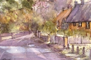 13-088 - Autumn on the Street - Watercolour on W/C Paper - £25.00 - 25x20cm - Mounted