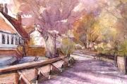 13-100 - The Street Lammas - Watercolour on W/C Paper - £25.00 - 25x20cm - Mounted