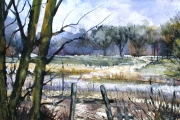 15-009 - View from the Copse - £97.50 - Watercolour on W/C Paper Mount 45x35cm