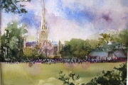 160-003 - Towards Norwich Cathedral - SOLD