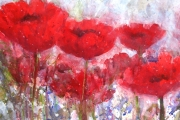 160-017 - Poppies - £112.50 - Mixed Media on W/C Paper - Mounted 50x40cm