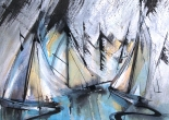 Watercolour - Sail Reflections Barton Broad
