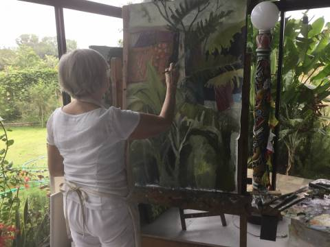Visit to Elsie Evans Art Retreat. Thailand.March-18